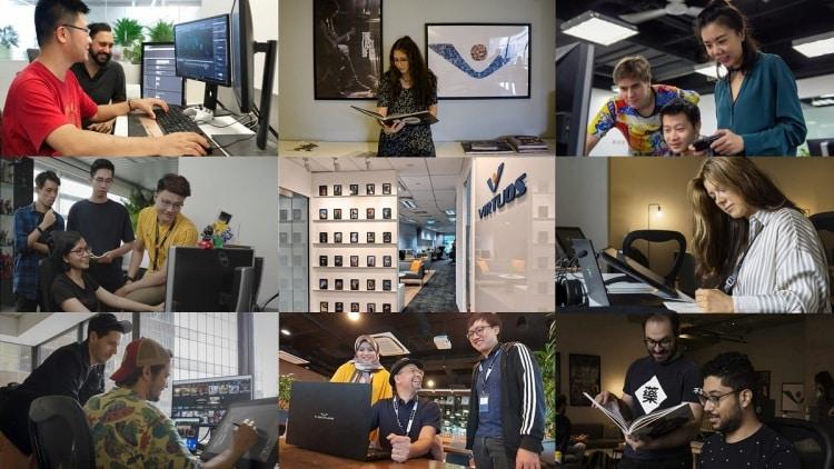 Virtuos staff collage